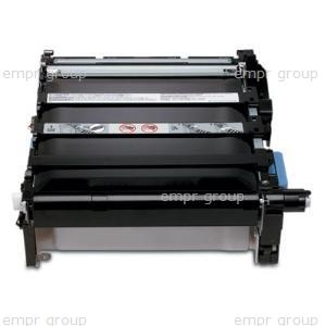 HP Part Q3658A Image transfer assembly - Includes the support frame, image transfer belt (ITB), rollers, covers, and drive gears