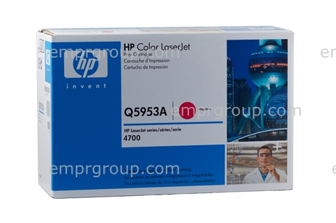 HP Part Q5953A HP Color LaserJet 4700 series magenta toner cartridge