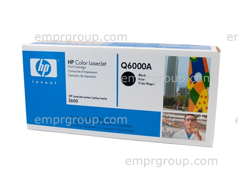 HP Part Q6000A HP Color LaserJet smart Black print cartridge - Will print approximately 2,500 pages based on a 5% print density