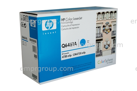 HP Part Q6461A Toner cartridge - Cyan toner cartridge - Will print approximately 12,000 pages based on a 5% print density