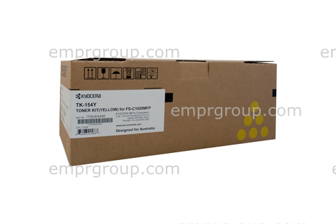 Part Kyocera TK154 Yellow Toner - TK-154Y Kyocera TK154 Yellow Toner
